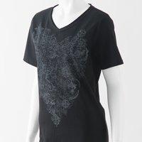 Ozz Oneste Rose Print T-Shirt