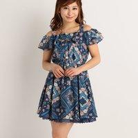 LIZ LISA Handkerchief Pattern Dress