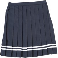 Teens Ever Navy Blue x White Lines High School Uniform Skirt