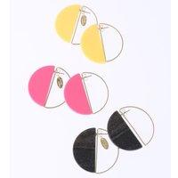Honey Salon Acrylic Round Earrings