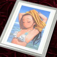 "Range Murata ""Girl By The Shore"" Lithograph"