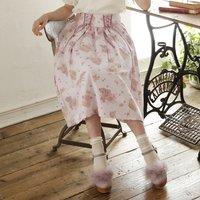 LIZ LISA Grape Rose Mi-Mollet Skirt