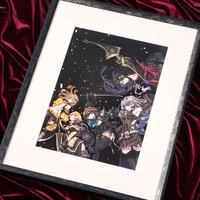 Terra Battle Dancers Lithograph w/ Frame