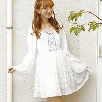LIZ LISA Ribbon Rose Chiffon Dress