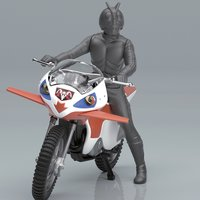 Mecha Collection Kamen Rider: New Cyclone