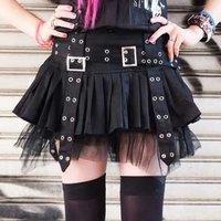 ACDC RAG Pleats & Belt Skirt