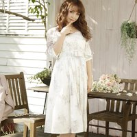 LIZ LISA Bouquet Pattern Dress