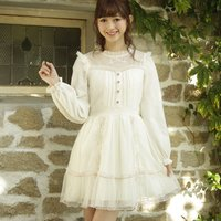 LIZ LISA Ribbon Embroidered Dress