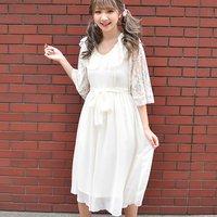 LIZ LISA Chiffon Lace Long Dress