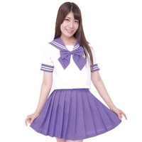 Color Sailor Purple x White Sailor Suit Cosplay Outfit