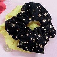 Star Pattern Scrunchie 2-Pack