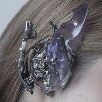 Purple Cyberpunk Headphones