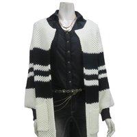 Rozen Kavalier Striped Long Cardigan