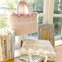 LIZ LISA Tulle Basket-Style Bag