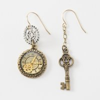 Gear & Key Earrings