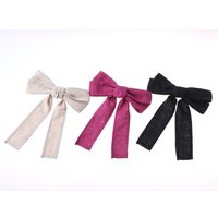 Honey Salon Linen Ribbon Barrette