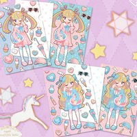 Sweet Lolita Clear File & Post Card Set