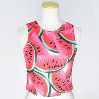 ACDC RAG Watermelon Short Tank Top
