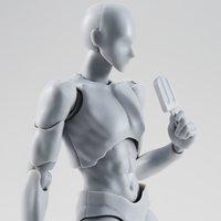 S.H.Figuarts Body-kun Rihito Takarai Edition DX Set: Gray Color Ver.