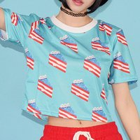 ACDC RAG USA Cake Crop Top