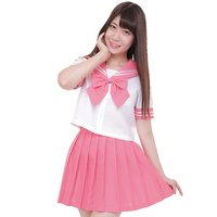 Color Sailor Pink x White Sailor Suit Cosplay Outfit