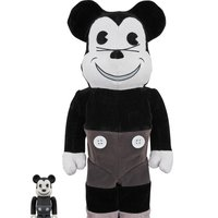 BE@RBRICK Mickey Mouse Vintage Ver. Black & White 100% & 400%