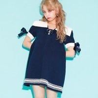 Swankiss Sailor Fleece-Lined Dress