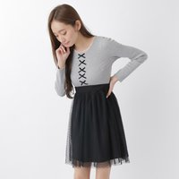 earth music&ecology Ribbon Tulle Dress