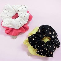 Star Pattern Scrunchie 2-Pack