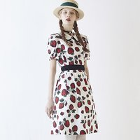 Q-pot. Strawberry Field Puffy Sleeve Dress