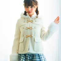 LIZ LISA Ribbon Bit Short Duffle Coat