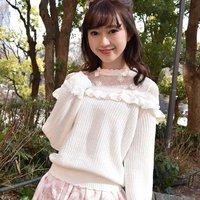 LIZ LISA Ribbon Floral Knit Top