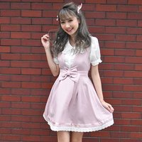 LIZ LISA Waist Ribbon Jumper Skirt
