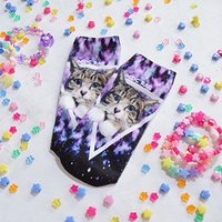 ACDC RAG Galaxy Cat Socks