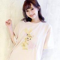 LIZ LISA Rabbit Print Big T-Shirt