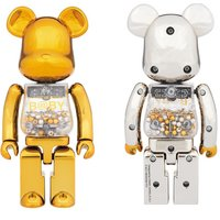 Super Alloy My First BE@RBRICK Gold & Silver Ver.