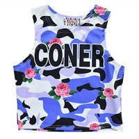 ACDC RAG Coner Short Camouflage Tank Top