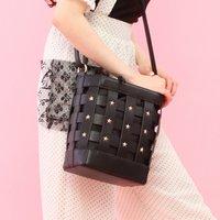 Honey Salon Studded Lattice Bag