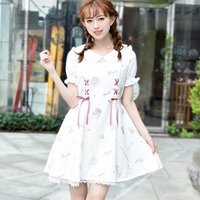 LIZ LISA Romantic Shoes Pattern Dress
