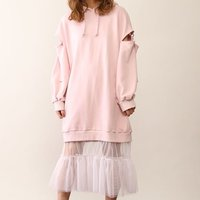 Honey Salon Shoulder Slit Docking Dress