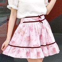 LIZ LISA Grape Rose Sukapan Skirt