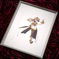 Terra Battle Character Art Samantha Lithograph w/ Frame