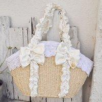 LIZ LISA Frilly Handle Basket-Style Bag