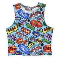 ACDC RAG American Comic Style Short Tank Top