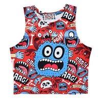 ACDC RAG Blue Monster Short Tank Top