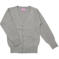 Teens Ever Heather Gray High School Uniform Cardigan