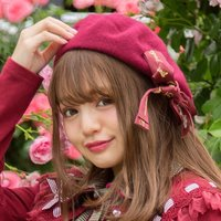 LIZ LISA Embroidered Ribbon Beret