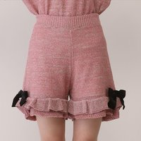 Honey Salon Lamé Knit Shorts