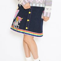 galaxxxy Neo 70's Patch Skirt