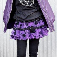 ACDC RAG Skulls Short Skirt